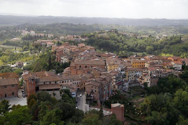View of San Miniato Town, Tuscany, Italy