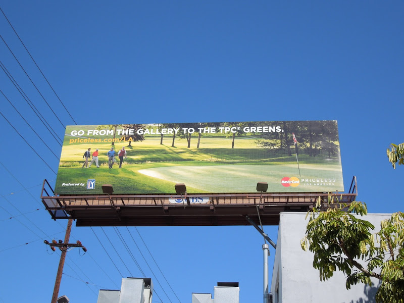 MasterCard Priceless golfing billboard