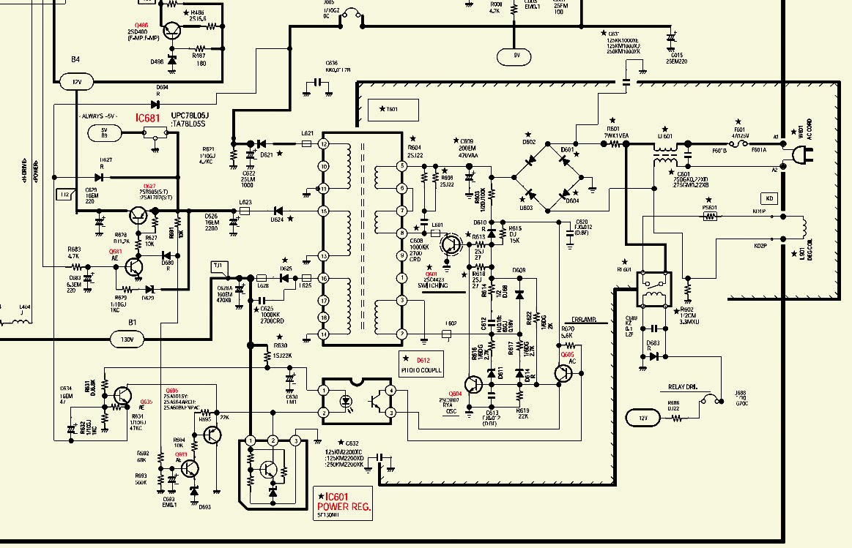 sanyo tv circuit diagram [ 1163 x 749 Pixel ]