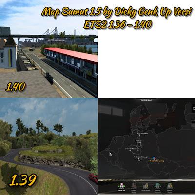 Map Sumut 1.5 Update ETS2 v1.36 - 1.40