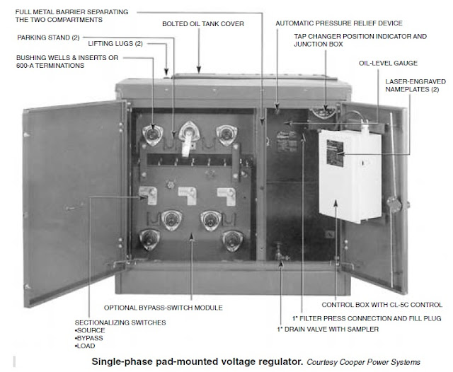 Single Phase Pad Mounted Voltage Regulator Courtesy Cooper Power System on Dna 30 Wiring Diagram