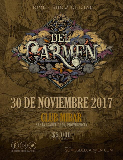 Del Carmen y su primer show oficial.