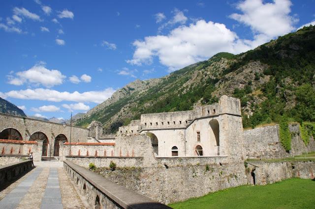 Una porzione del Forte Albertino di Vinadio