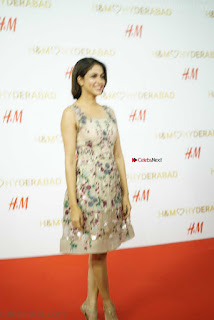 Lavanya Tripathi in a beautiful Embroidery Sleeveless Short Dress  at H and M Store Launch ~  Exclusive