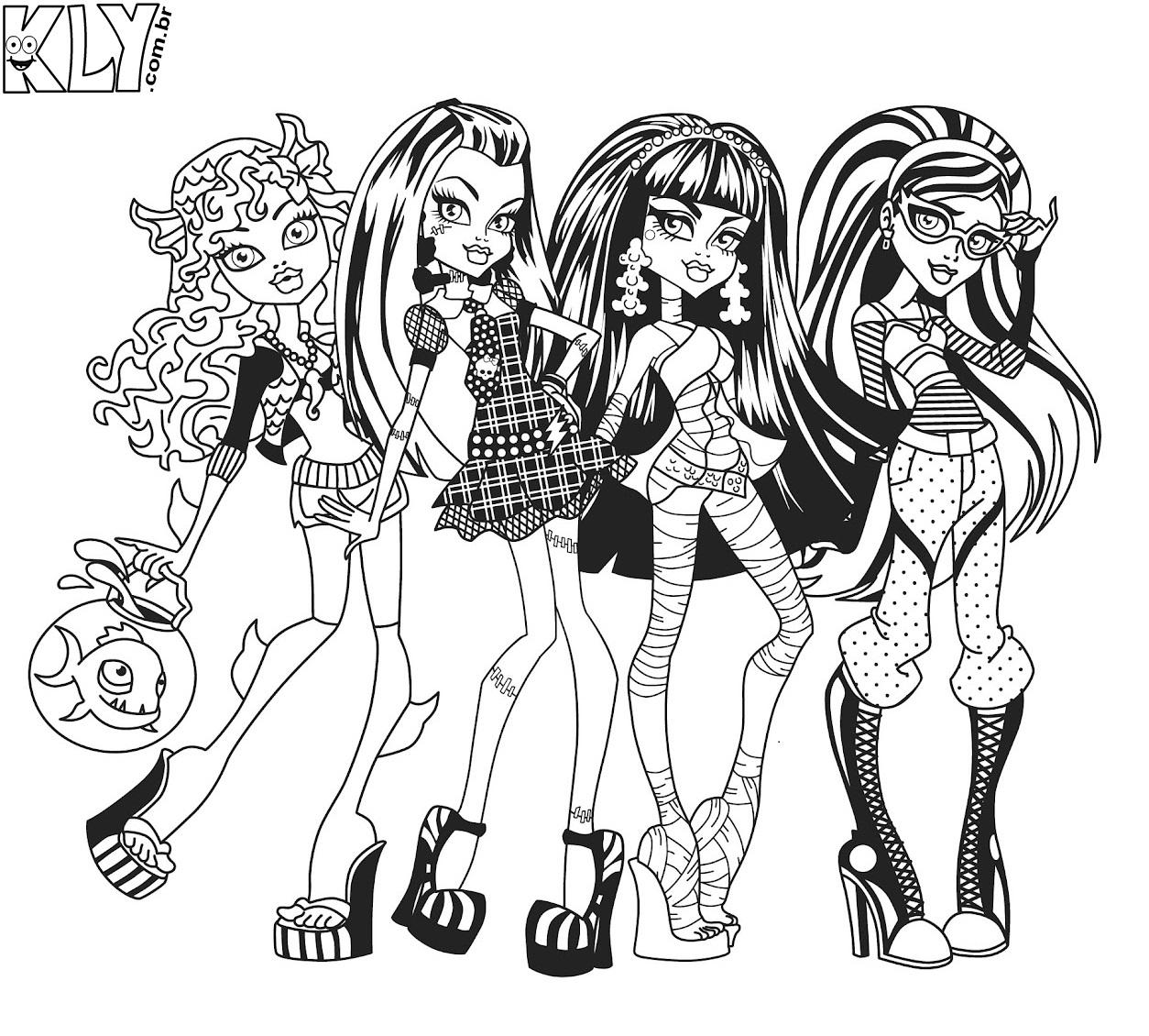 Monster High Desenhos Para Colorir Bibi Educadora