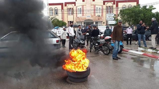 بعد قرار استقالة الرئيس : أحباء هلال الشابة يقومون بوقفة احتجاجية