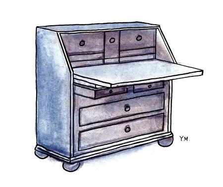desk by Yukié Matsushita