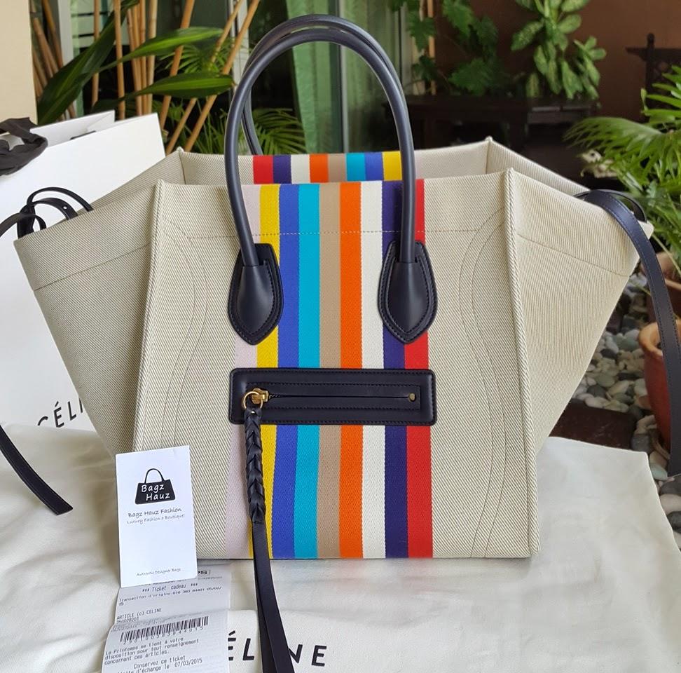 af915cc76afb CELINE Medium Luggage Phantom Handbag in Multicolore Textile ~ For Ruzainah  ~ ♥♥1st time customer♥♥