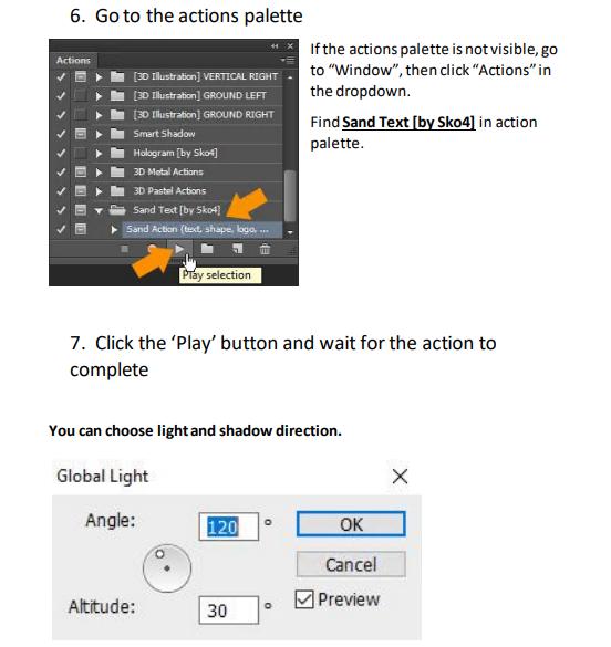 تحميل أكشن الكتابة على الرمال للفوتوشوب Sand Photoshop Action2