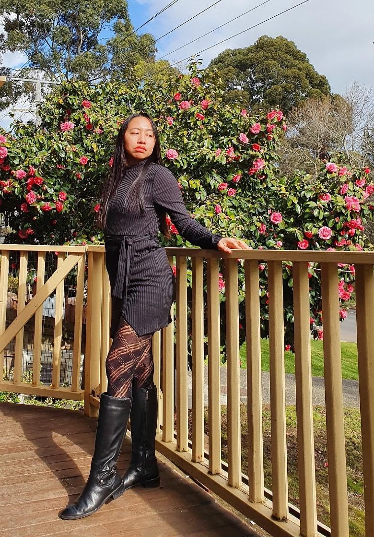FEMMELUXE Winter Loungewear Fashion, little black dress