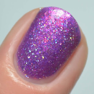 violet jelly nail polish
