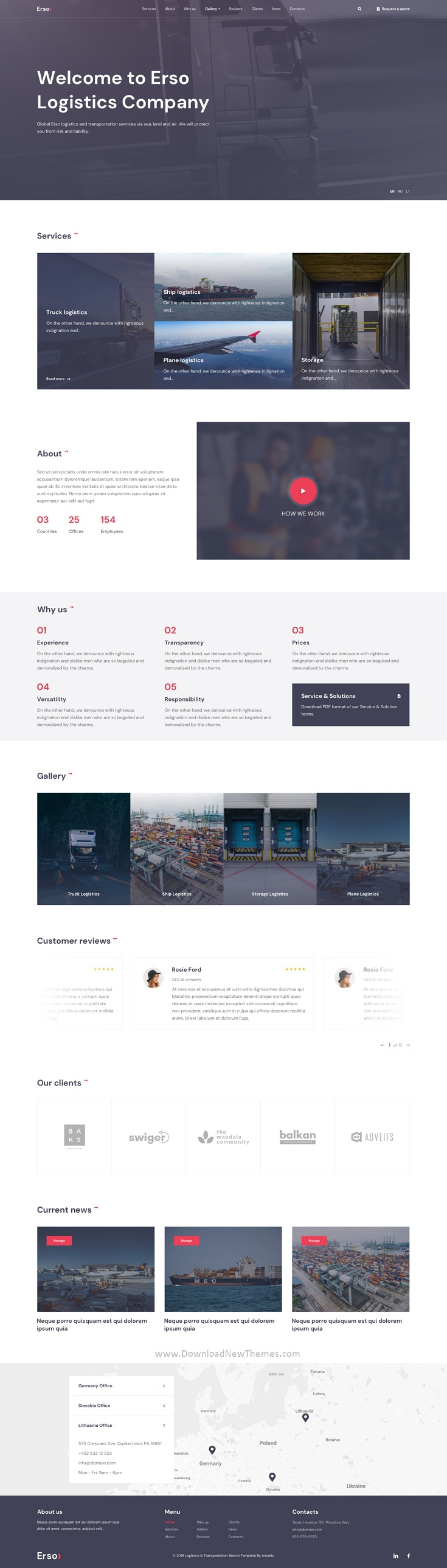 Best Logistics & Transportation Website Template