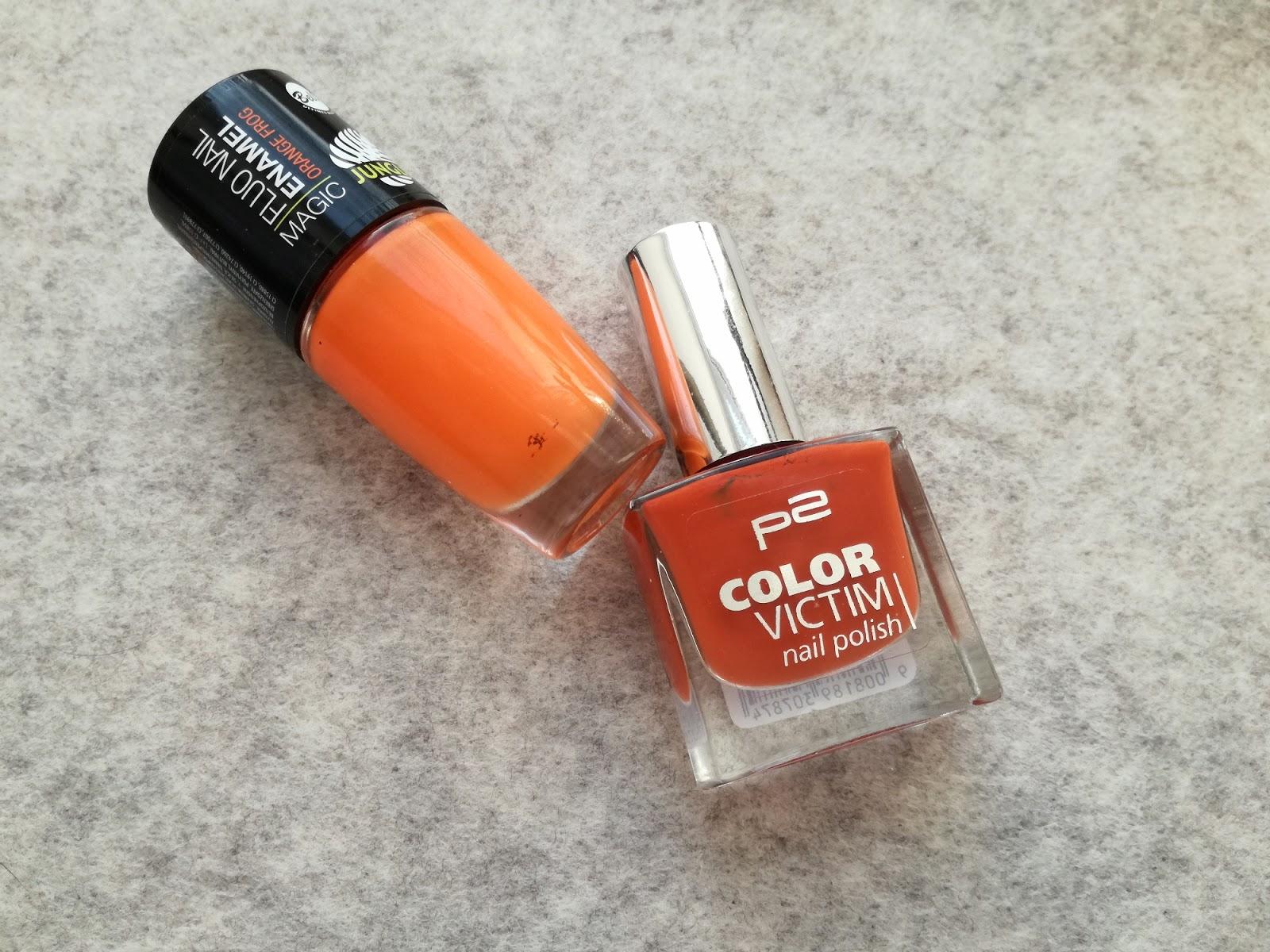 pomarańczowe lakiery do paznokci