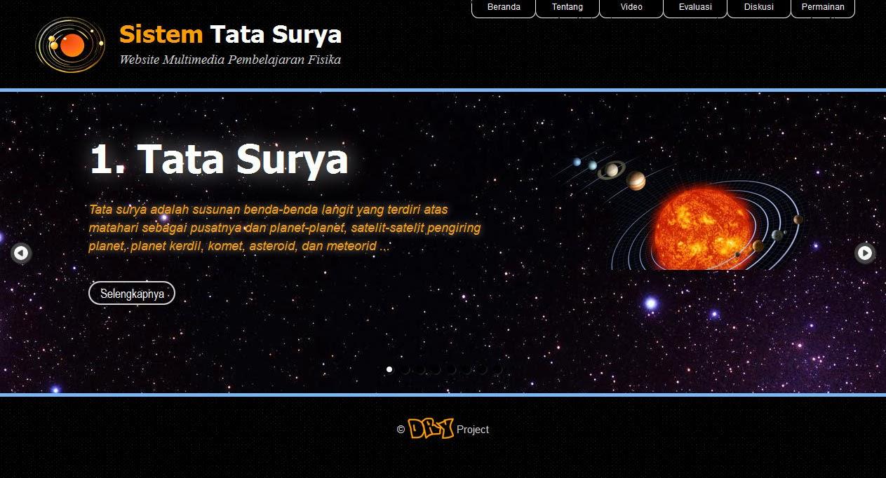 Sistem Tata Surya - Website Multimedia Pembelajaran Fisika