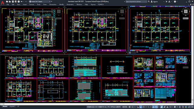 Compact School Project [DWG]