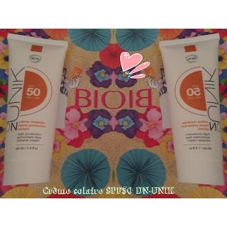 Crème solaire SPF50 DN-Unik de la Biotyfull box du mois de  juillet 2018