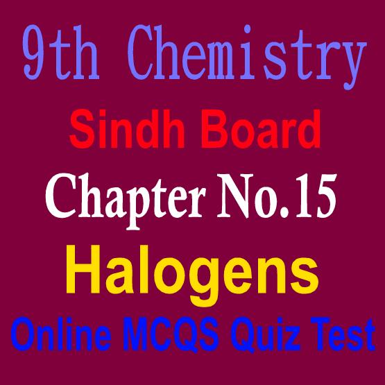 9th Chemistry Sindh Board MCQs