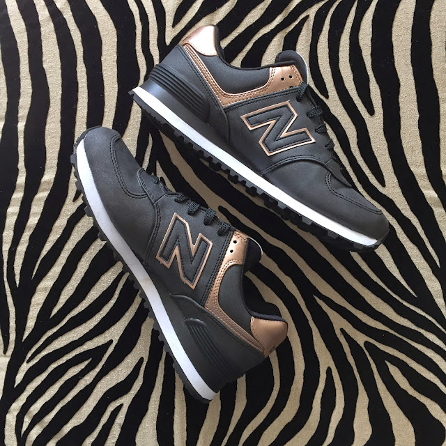 new balance rose gold, leopard ottoman, boston fashion blogger