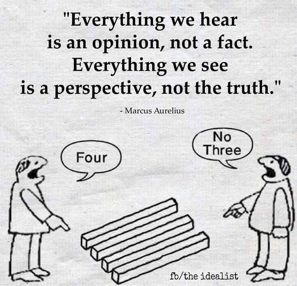 It's Important That We See Things Differently