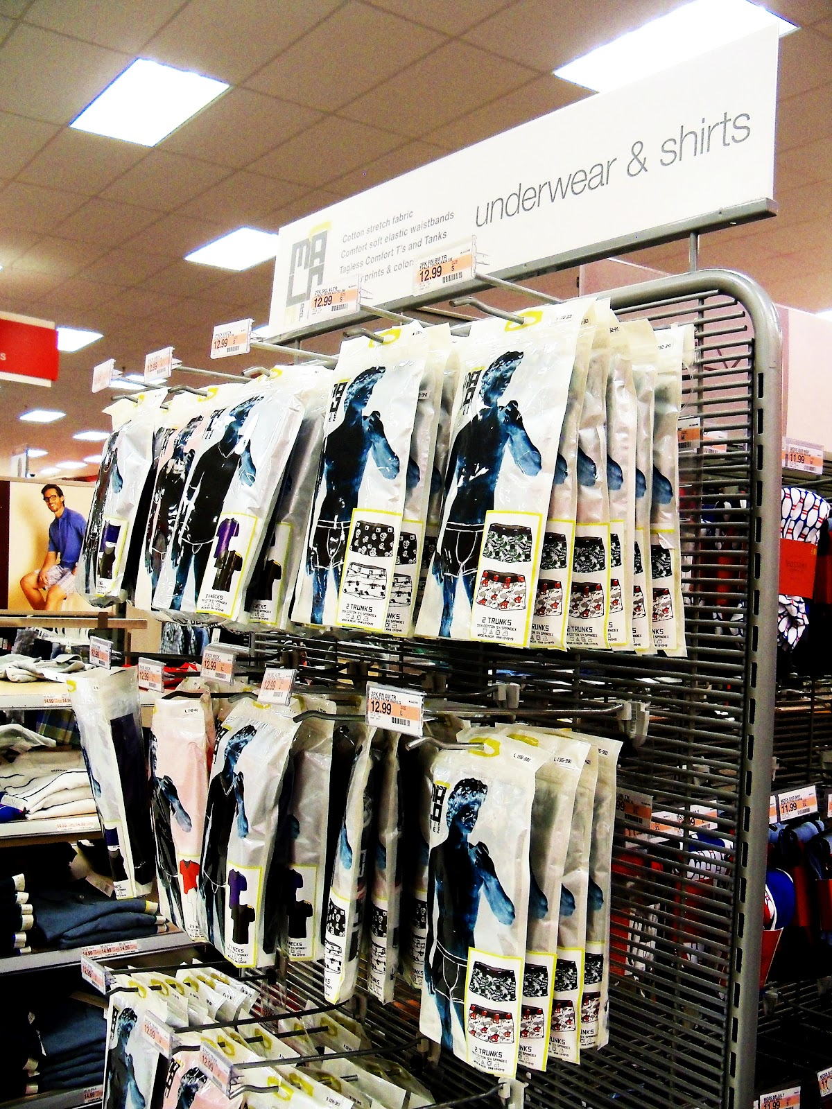 For hubby we found the Mario Lopez MaLo Underwear right away in the Men s  Fashion section of the store. They had this nice end cap display and there  was a ... bf283dde892d