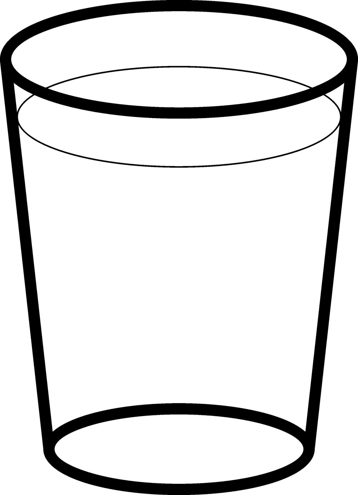 of vaso de agua de dibujo