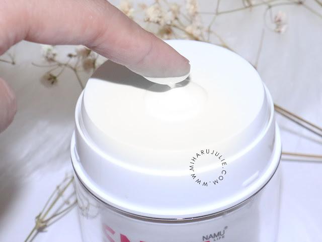 namu life snail white day cream review