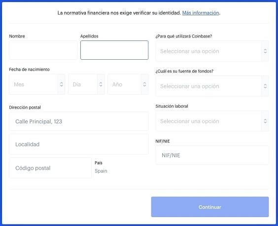 Verificar Cuenta Coinbase para Comprar CURVE DAO TOKEN (CRV)