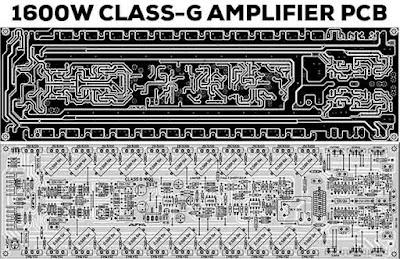 1600W Power Amplifier Class-G PCB Layout