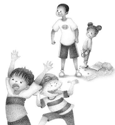 Alexandria Gold Black and White Children's Book Illustration Ria Art World