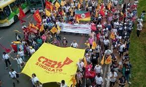 A luta do magistério gaúcho é um drama permanente e a manifestação continuam.