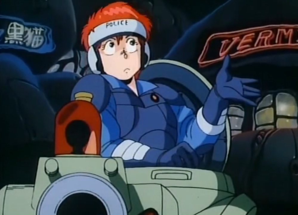 Leona Ozaki and his tank, Bonnaparte of Dominion Tank Police