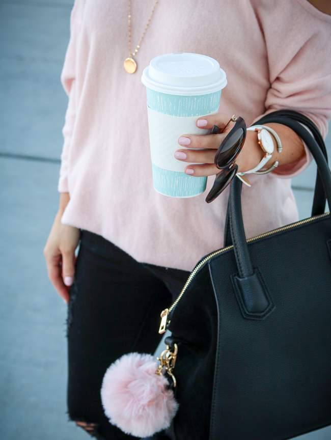 blush fleece sweater top she is boutique