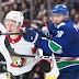 Brandon Sutter records hat trick, Canucks rout Senators 7-1