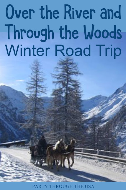 Snow Themed Road Trip // Party Through the USA // winter // snowman // party foods // road trips with kids // car trip activities for kids // travel food // winter drinks // winter party food