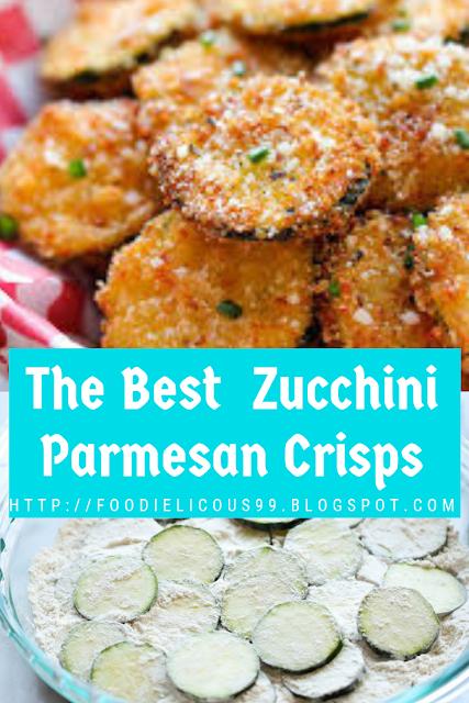 The Best  Zucchini Parmesan Crisps