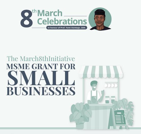 Don't Miss Prof Osinbajo March 8th 1M Naira Grant