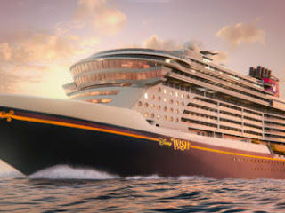 Artists Rendering of the New Disney Wish - Obviously Concealing Some Unique Amenities Planned for the New Ship.