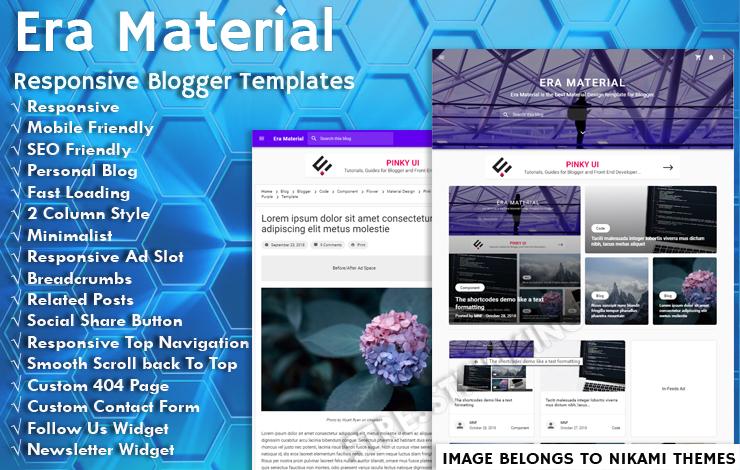 Era Material Pro Responsive Blogger Template - Responsive Blogger Template