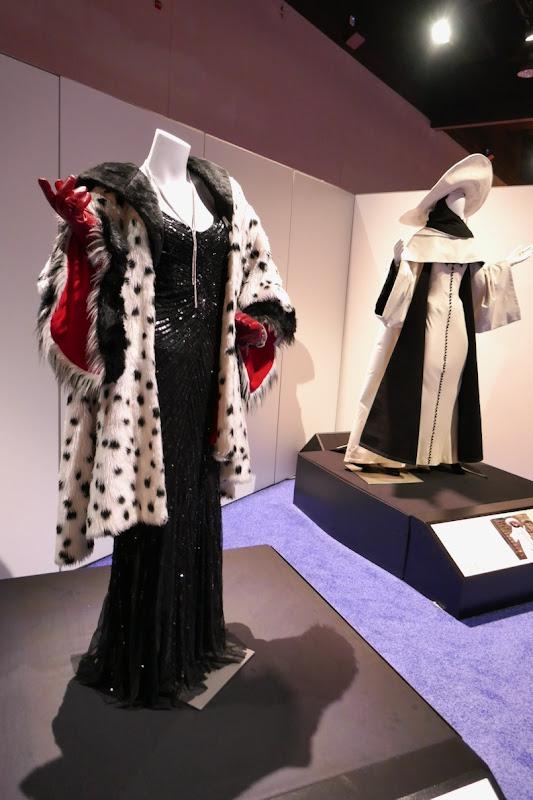 Victoria Smurfit and Glenn Close Cruella de Vil costumes
