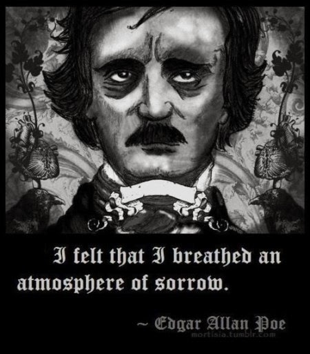 poe s poetry the reason we believe this quote establishes mood atmosphere is because the story itself is about a mentally ill man who becomes consumed by his depression