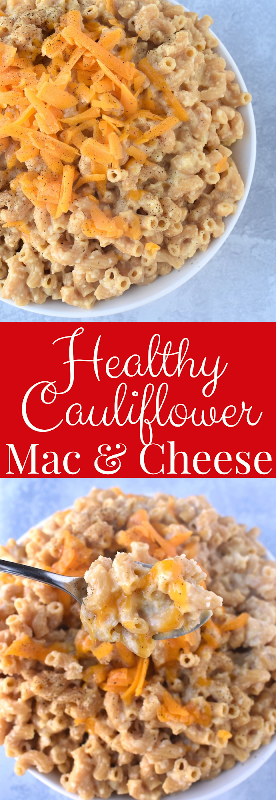 Healthy Cauliflower Mac and Cheese recipe