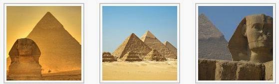 Egipatske piramide i sfinga.