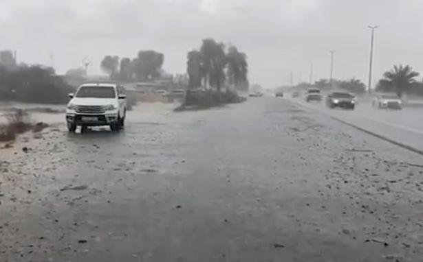 Dubai, the United Arab Emirates (UAE) artificial rainfall  photo