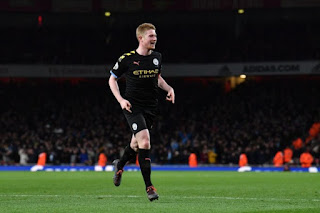 Arsenal 0-3 Man City: De Bruyne-inspired City close gap on 2nd Leicester to 4pts