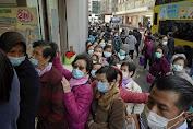 warga rella antri berjam-jam demi mendapatkan masker dengan harga murah
