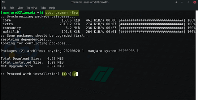 update your Manjaro system