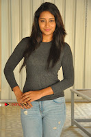 Actress Bhanu Tripathri Pos in Ripped Jeans at Iddari Madhya 18 Movie Pressmeet  0048.JPG