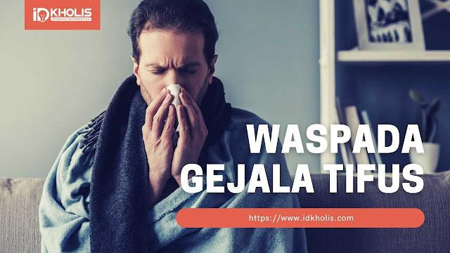 gejala tifus