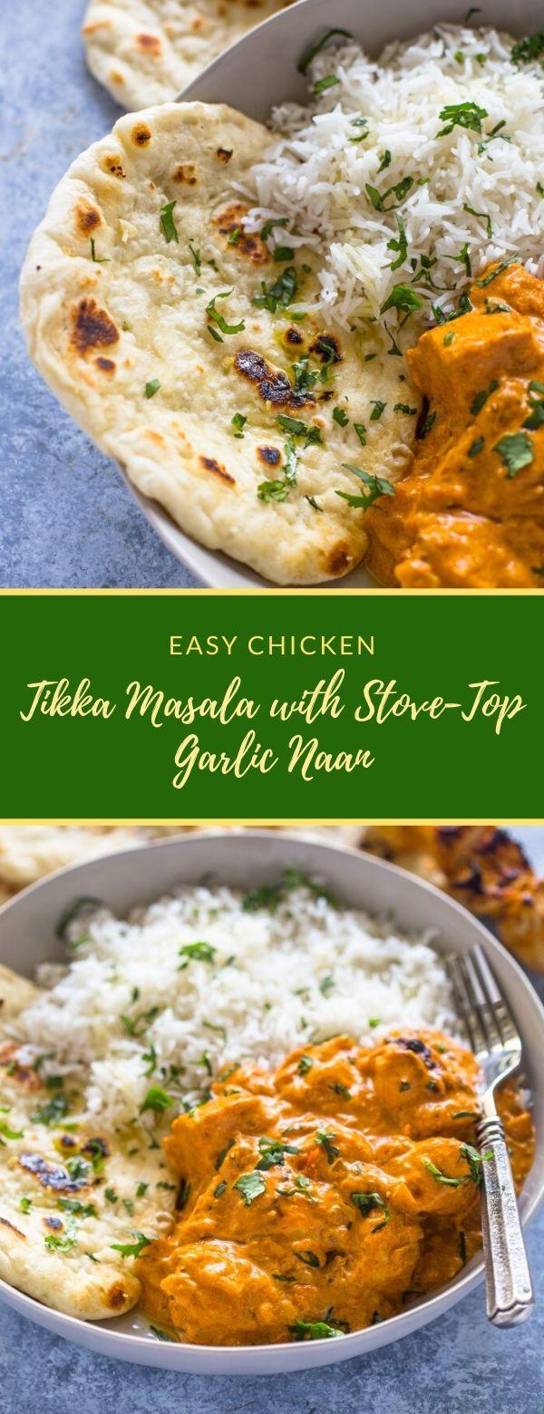 Easy Chicken Tikka Masala with Stove-Top Garlic Naan