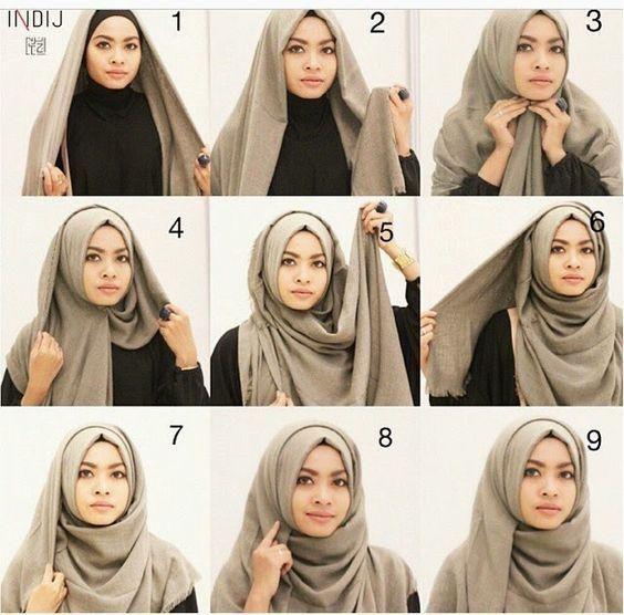 model hijab untuk wajah bulat 2021